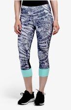 NWT Women MPG Mondetta Capri Pants Mesh Tight Pants Printed Multicolor XS S M