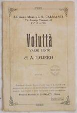 LOJERO VOLUTTA SPARTITI MUSICA ORCHESTRA MUSIC VINTAGE