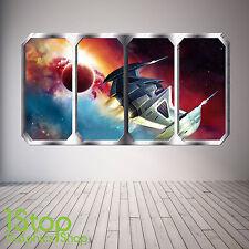Espacio Planeta Ventana Pared Adhesivo a Todo Color-Tierra Planetas nave espacial SP20