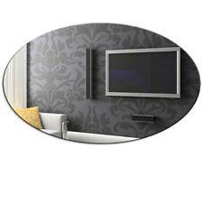 Ovalado Acrílico Dormitorio Cuarto De Baño Espejo Pared Decoración Hogar -