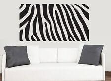 Zebra Print - Wall Art Vinyl Stickers African Africa Transfer Murals Decals