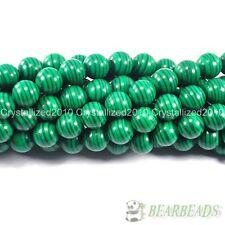 Malachite Gemstone Round Loose Spacer Beads 15.5'' Strand 4mm 6mm 8mm 10mm 12mm