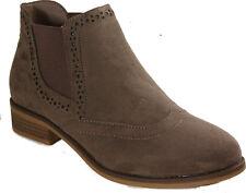 RIEKER Schuhe Stiefeletten Chelsea Boots Braun  Textilfutter NEU