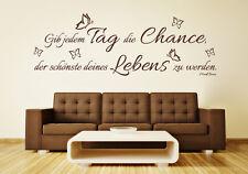 Wandspruch: Gib jedem Tag die Chance - Zitat Mark Twain Wandaufkleber WandTattoo