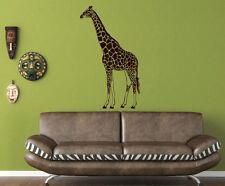 Wild Africa-Jirafa pegatinas de pared. durable Vinilo calcomanía Decoración. alta Calidad. Uk