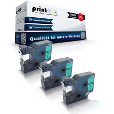 3x Premium Schriftbänder für Dymo 45019 S0720590 12mm Farbband -Easy Print Serie