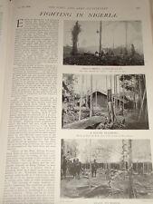 1903 FIGHTING IN NIGERIA NATIVE PEOPLE CLIMBING TREE OPOBO HAUSA TROOPS EETC