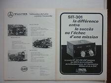 9/1974 PUB JAHN WALTER MOTOR TRUCK CORPORATION CAMIONS POMPIERS FEUERWEHR AD