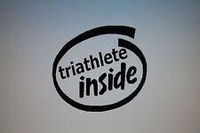 triathlete inside Decal Sticker Triathlon Bike Run Swim