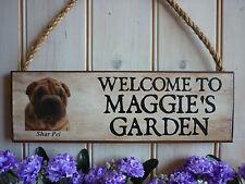 DOG SIGN SHAR PEI SIGN PERSONALISED DOG SIGN GARDEN SIGN WELCOME SIGN GATE SIGN