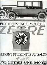 Publicité-Automobile: LE ZEBRE 1924