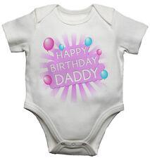 Feliz Cumpleaños Daddy Personalizado algodón bebé Camisetas Bodis para chicas