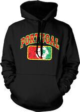 Distressed Portugal Soccer - Portuguese Pride Futbol Hoodie Pullover
