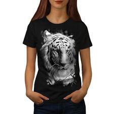 White Tiger Head Women T-shirt S-2XL NEW | Wellcoda