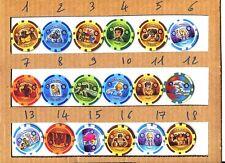♥ - POGS POG - KINI de votre choix PLANCHE 100 (A) (Kinis NEUFS) GORMITI SLAM ♥