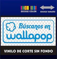 Sticker Vinilo - Búscanos en Wallapop - Escoge color y tamaño - Pegatina - Vinyl