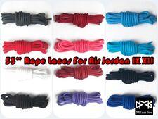 """DMG Laces 54"""" 140cm Rope shoe laces fit for Air Jordan AJ 9 12 IX XII Flight"""