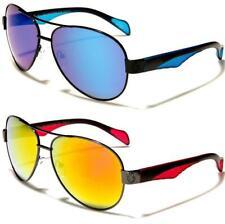 Khan Diseñador Gafas De Sol Negro para Hombre Damas del deporte Piloto Metal Retro Con Espejo Grande