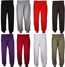 Womens Ladies Plus Size Harem Elasticated Cuffed Trouser Pants 18 20 22 24 26 28