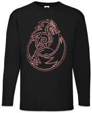 Fenrir Wolf II Langarm T-Shirt Walhalla Odin Thor Odin Wikinger Vikings Wölfe