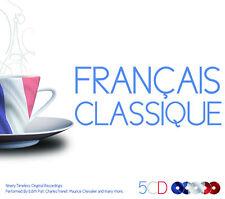 5 CD BOX FRANCAIS CLASSIQUE PIAF CHEVALIER TRENET BOYER MONTAND AZNAVOU ROSSI