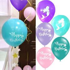 10Pcs Mermaid Latex Balloon Birthday Wedding Party Decoration Party Ornaments UK