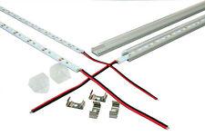 LED Streifen Strip Lichtleiste 1m Erweiterbar + Aluprofil Schiene + Netzteil 12V