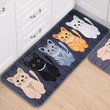 Cute Cartoon Cats Print Bathroom Kitchen Carpet Doormat Floor Mat Rug Decor