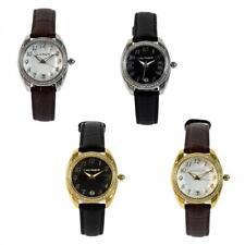 Womens Watch LAURA BIAGIOTTI WIND Steel Gold Leather Black Brown Swarovski