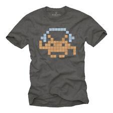 Nerd T-Shirt für DJ Sound Invader mit Kopfhörer Männer grau S-XXL