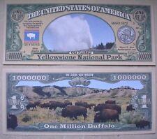 SEGNALIBRO banconota DOLLARO Yellowstone National Park Wyoming collezione festa