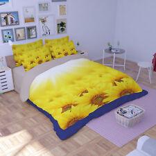 3D Sun Flower 803 Bed Pillowcases Quilt Duvet Cover Set Single Queen King CA