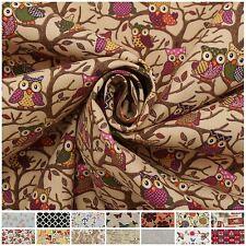 100% Heavy Cotton Panama Printed Childrens Curtain Cushion Upholstery Fabric