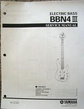 Yamaha BBN4 III Bass Guitar Service Manual and Parts List Booklet
