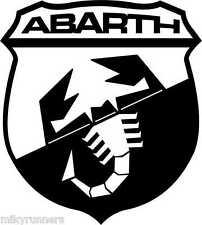 Adesivo stickers Scudetto FIAT ABARTH monocolore