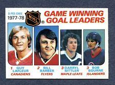 1978/79 OPC  #69 Game Winning Goal Leaders -  LaFleur  Mint