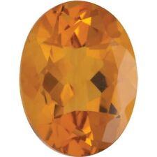 Natural Fine Deep Orange Gold Madeira Citrine - Oval - Rio Grande, Brazil - Top