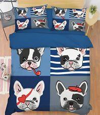 3D Cartoon Dog 611 Bed Pillowcases Quilt Duvet Cover Set Single Queen King Au