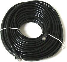 New RJ45 Cat5e Network LAN Cable Ethernet Patch Lead Black 1m - 50m Wholesale UK