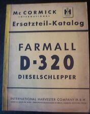 Mc Cormick Dieselschlepper D 320 Ersatzteilkatalog
