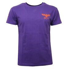 C9346 maglia uomo BOY LONDON viola/arancione t-shirt violet men