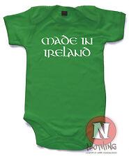 Hecho En Irlanda Naughtees Clothing Body Algodón Pelele Babysuit camiseta