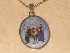 New Girls Disney Frozen Pendant Chain Necklace - Anna - Elsa - Olaf - U PICK