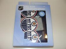Edmonton Oilers NHL Hockey Age 2 Set of 3 Piece Boys Underwear Briefs Box Set
