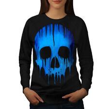 Melting Skeleton Skull Women Sweatshirt NEW | Wellcoda