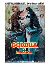 Godzilla vs Megalon 1973 Gojira Retro Vintage Classic Giant Wall Print POSTER