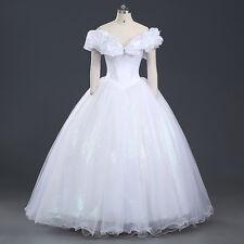 Cinderella Aschenputtel Disney Cosplay Kostüm Abend-kleid lang long Dress Weiss
