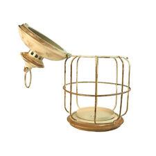 Antique Round Metal Cage Lantern, 14-Inch