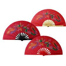 Chinese KungFu Tai Chi martial art Wingchun Exercise Dragon & Phoenix bamboo Fan