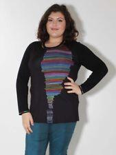 XXL Túnica Camiseta de Doris Streich Talla 46 50 y 52 Negro Colorido